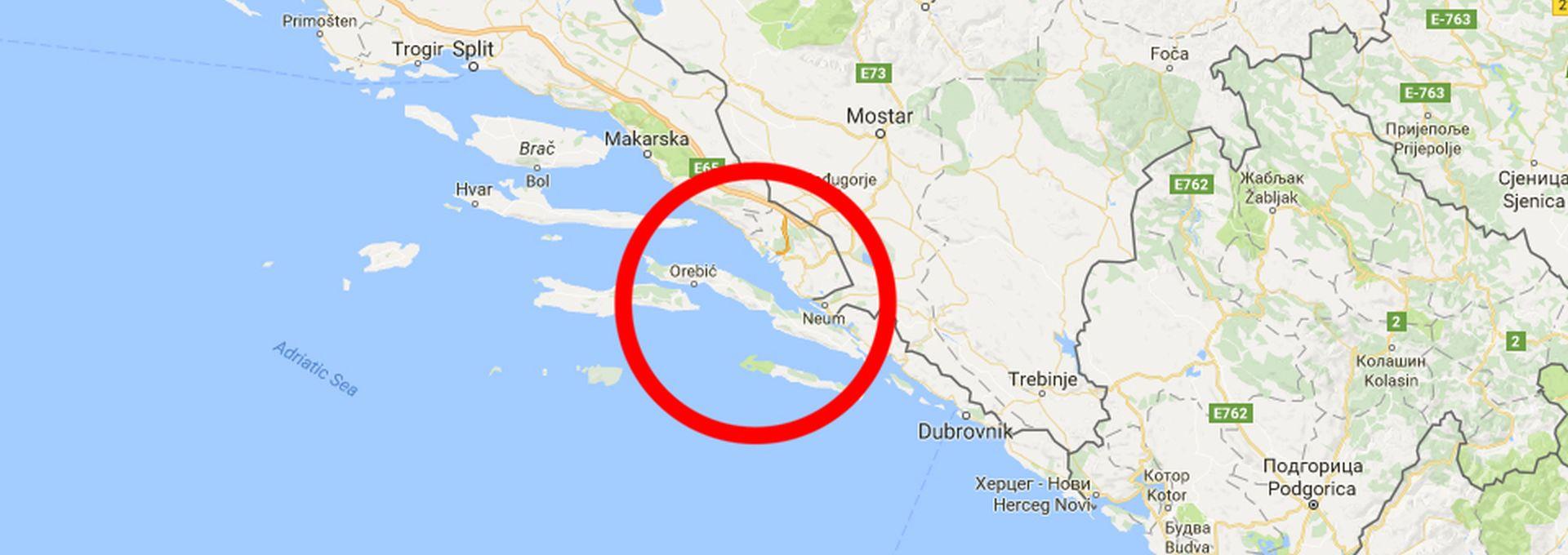 NEMIRNA OBALA Umjereni potres na Pelješcu