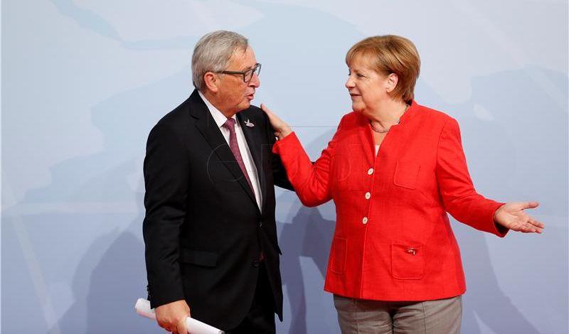 Juncker i Merkel razgovarali u Berlinu, o temama se malo zna
