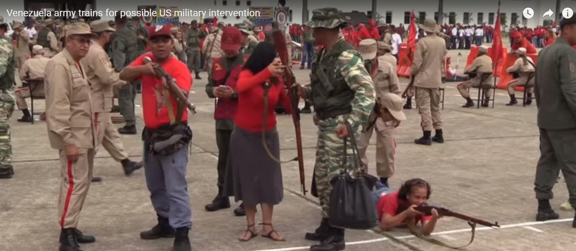 VIDEO: NAORUŽAN NAROD Venezuelanci se pripremaju za vatreni doček američke vojske