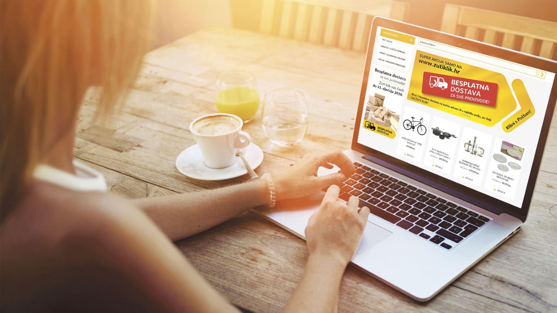 ŽUTI KLIK Hrvatska pošta pokrenula internetsku trgovinu