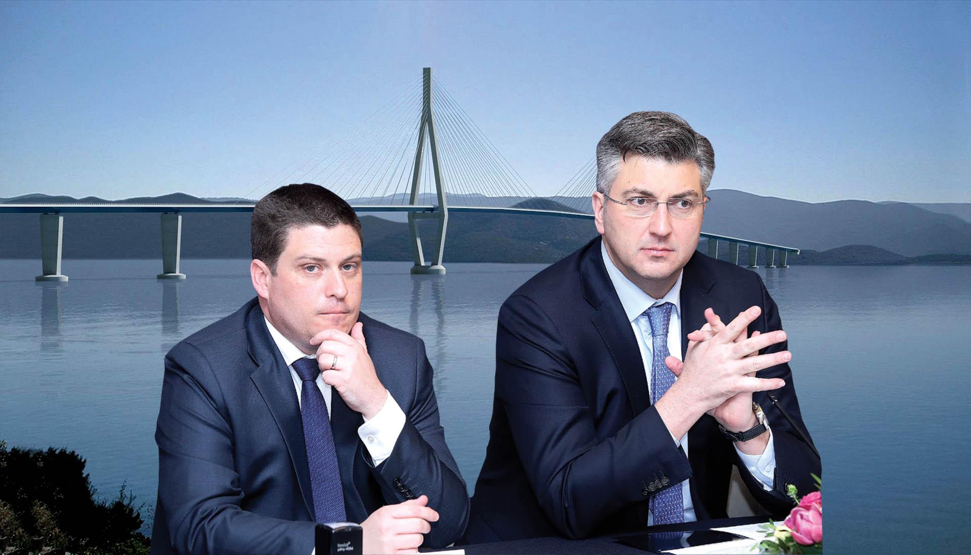 Plenković poručio Komšiću da Hrvatska ne krši zakone izgradnjom Pelješkog mosta