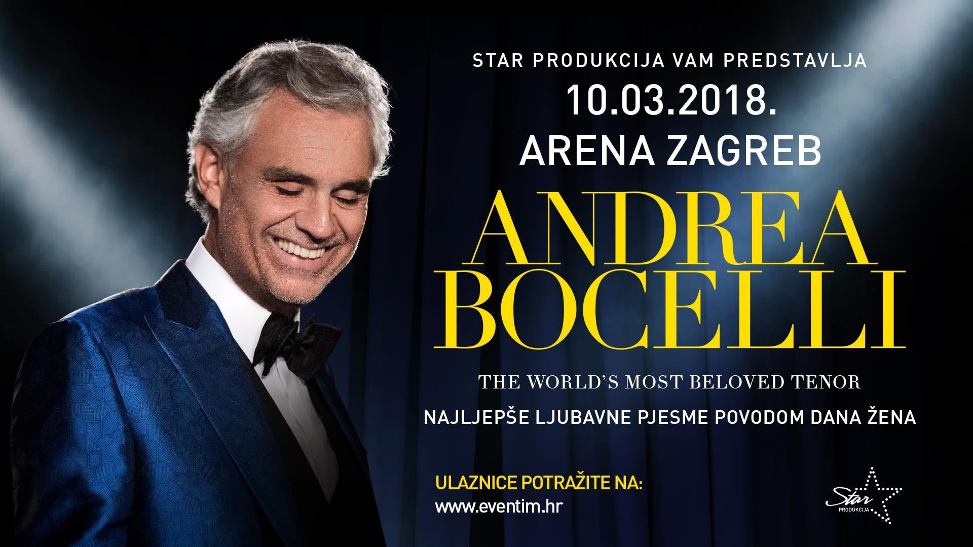 Andrea Bocelli bez problema određuje ovogodišnji raspored nastupa i najavljuje koncert u Zagrebu