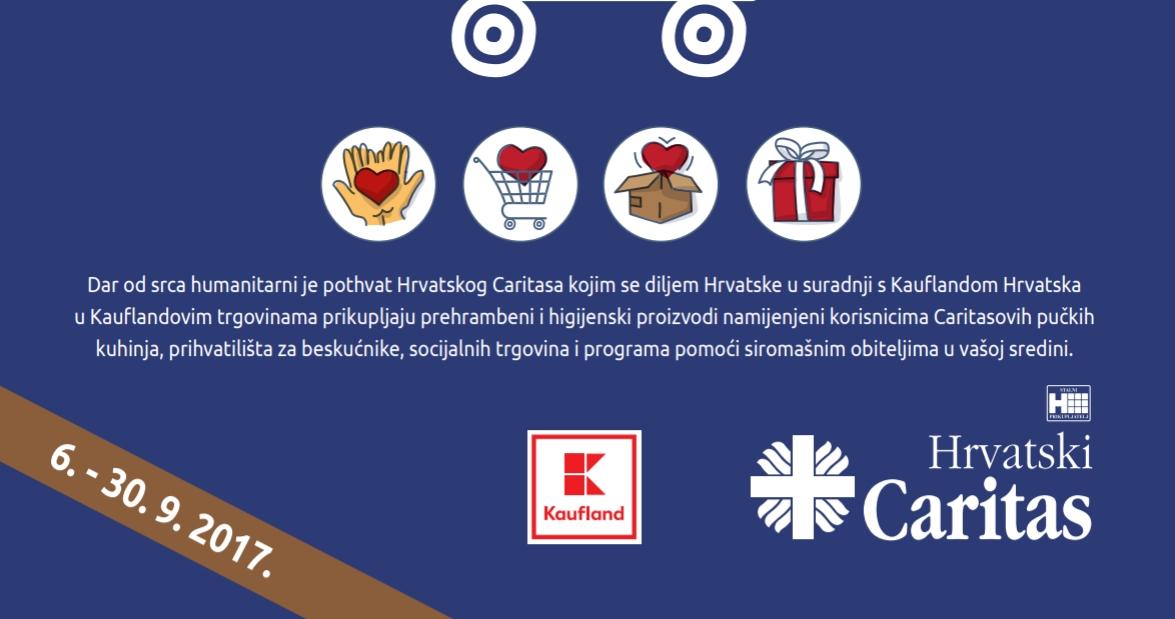 DAR OD SRCA Caritas u suradnji s Kauflandom prikuplja prehrambene i higijenske proizvode