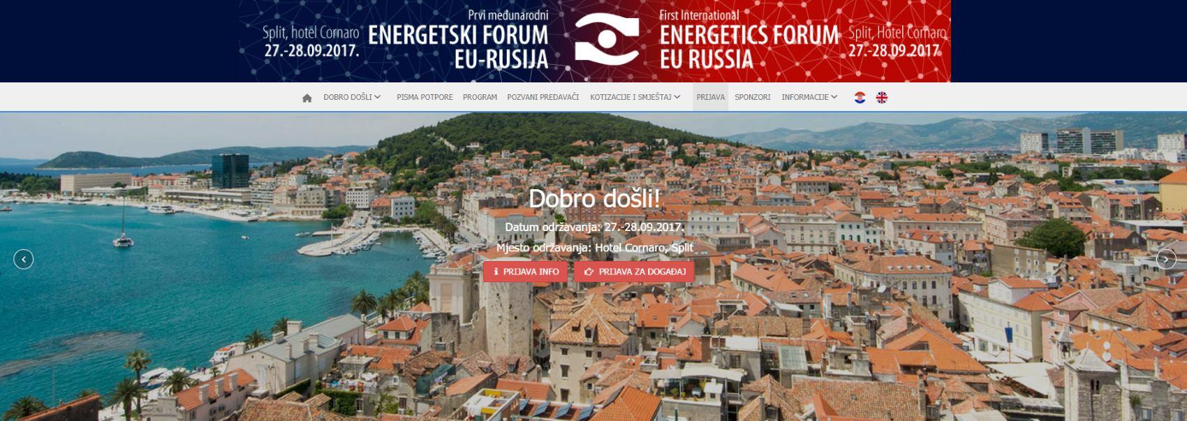 Prvi međunarodni 'Energetski forum EU-Rusija' održava se 28. rujna u Splitu
