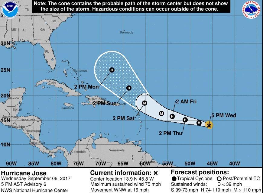 Uragan Jose stiže za Irmom