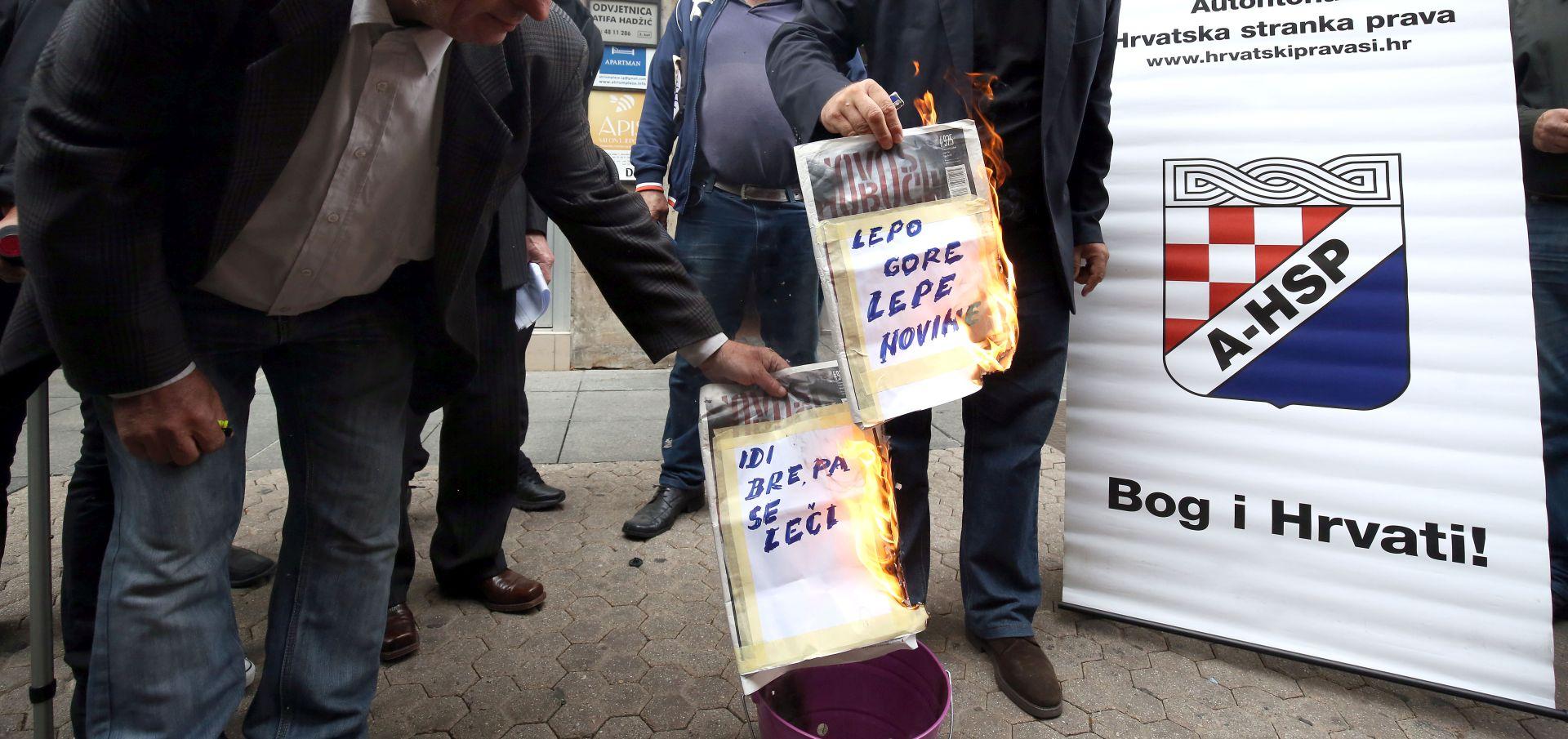 HND osudio novo javno spaljivanje tjednika 'Novosti'