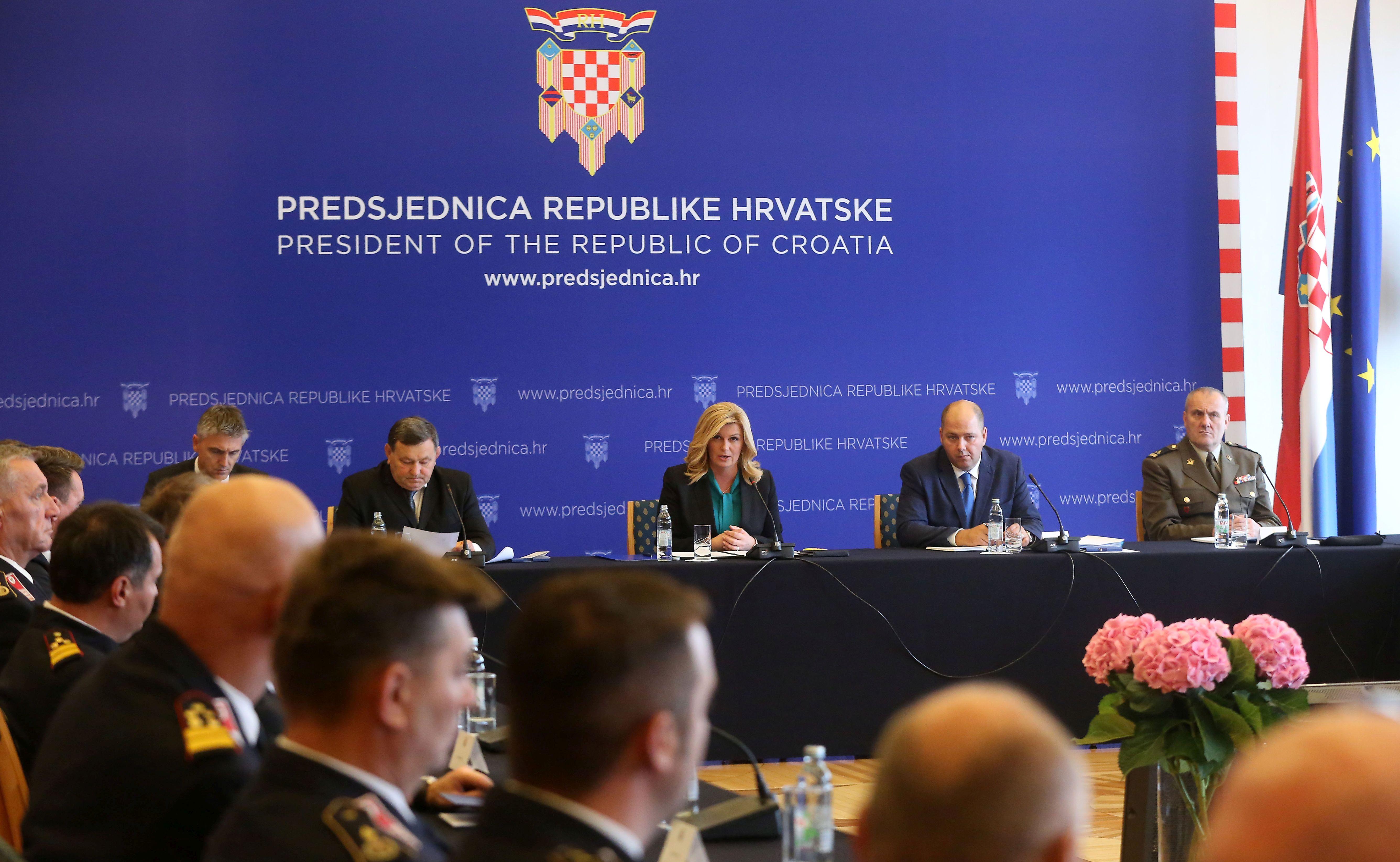 Održana 10. sjednica Vijeća za domovinsku sigurnost predsjednice Republike