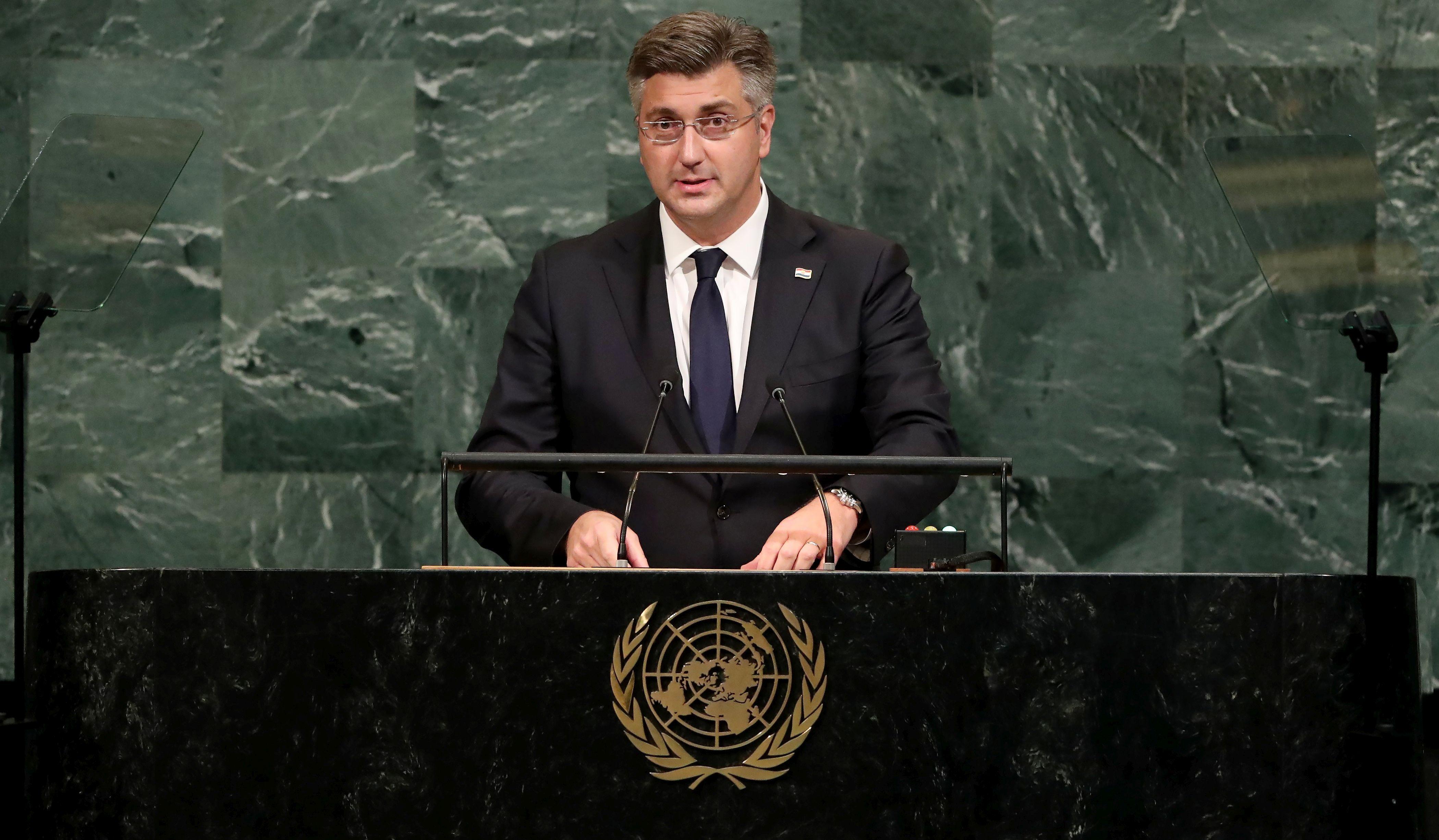 Plenković u UN-u branio izlazak iz arbitraže sa Slovenijom, govorio o aktualnim svjetskim problemima