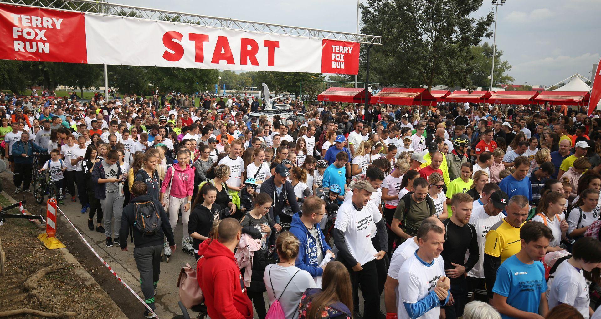 Humanitarna trka Terry Fox Run održana na zagrebačkom Jarunu
