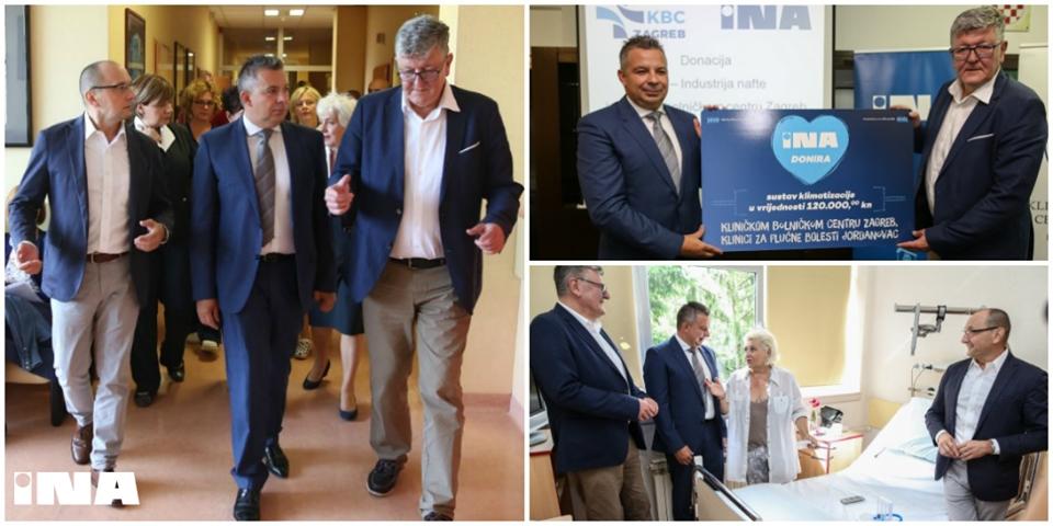 INA uručila donaciju Klinici za plućne bolesti KBC-a Zagreb