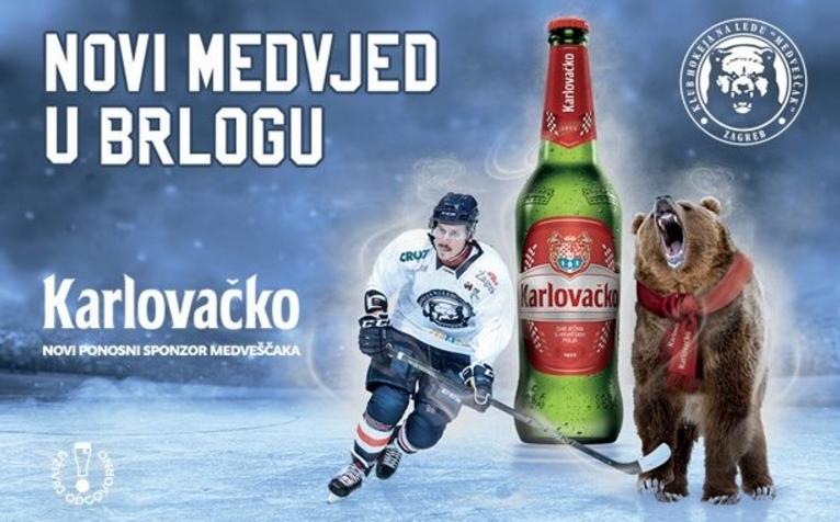 Karlovačko je novi partner KHL Medveščaka Zagreb
