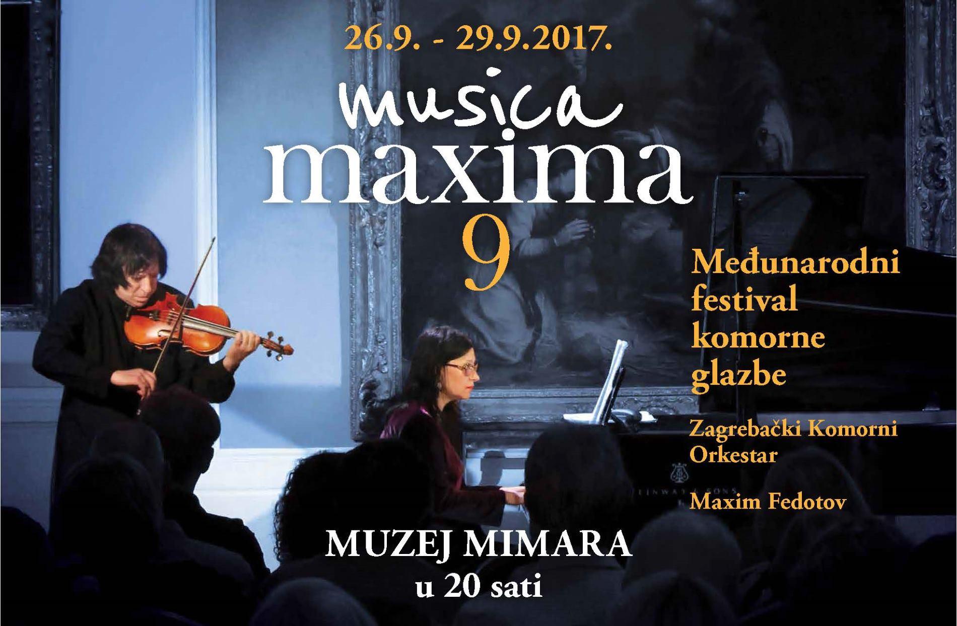 MUSICA MAXIMA Međunarodni festival komorne glazbe u Muzeju Mimara