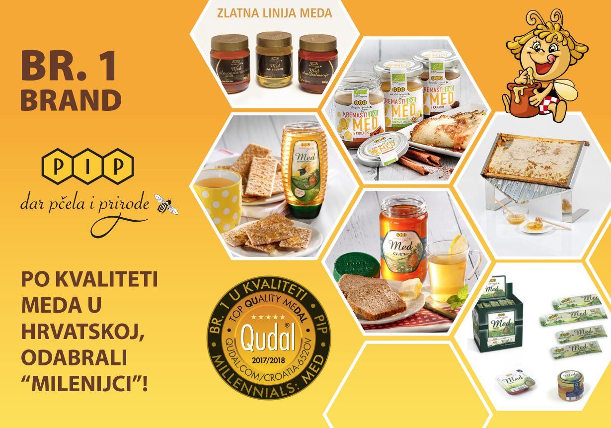 Tvrtka PIP osvojila prestižnu medalju QUDAL za najvišu kvalitetu meda – potvrdili 'Milenijci'