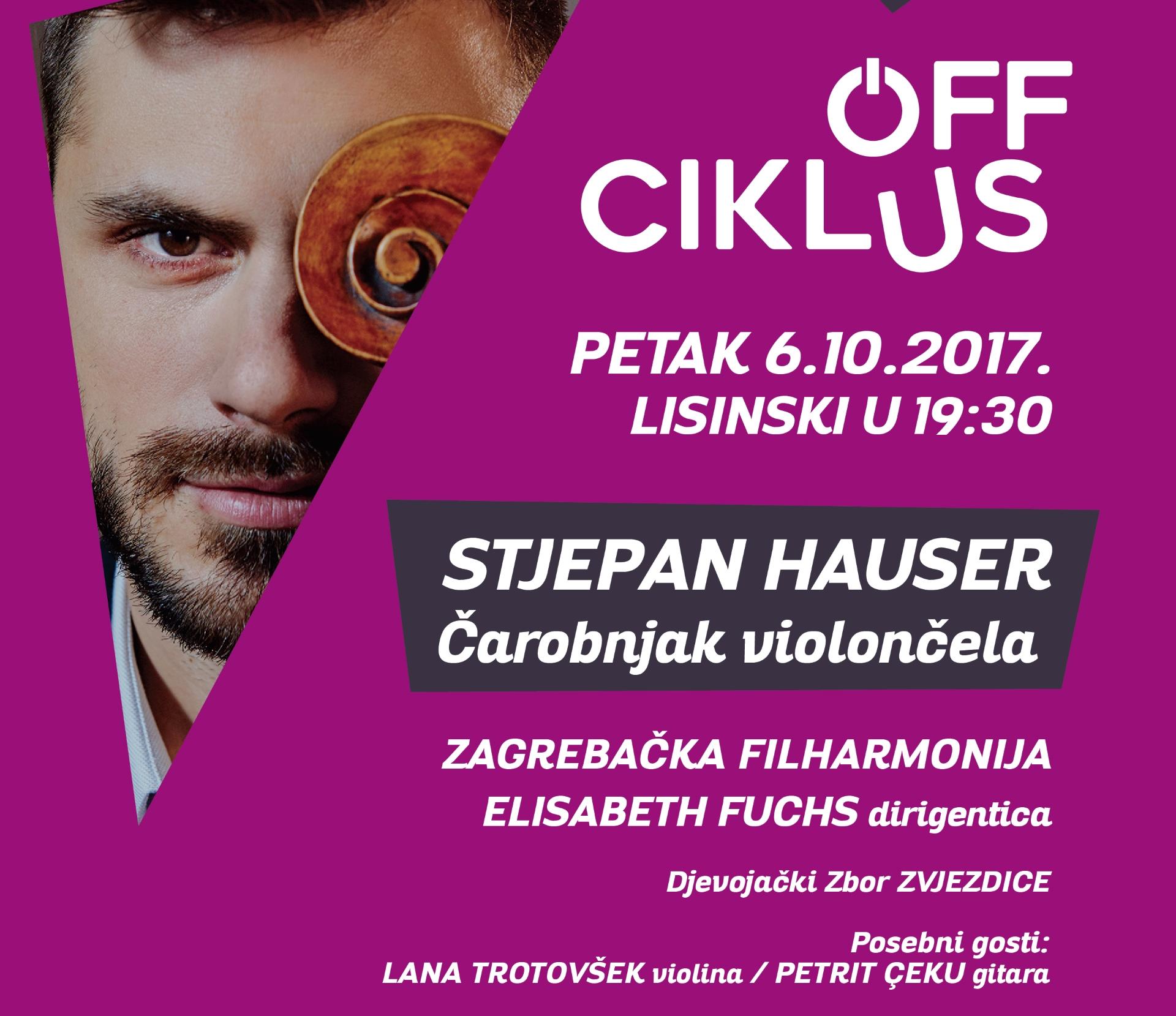 Stjepan Hauser u petak otvara 'Off' ciklus Zagrebačke filharmonije