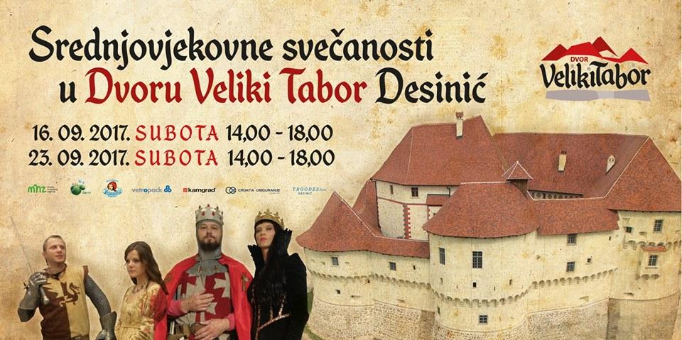 DVOR VELIKI TABOR Na srednjovjekovne svečanosti dolazi i kralj Sigismund s Barbarom