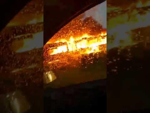 VIDEO: Izgorio autobus ZET-a