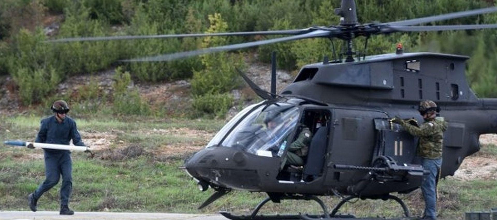 Hrvatski helikopteri Kiowe na mitingu u Slovačkoj