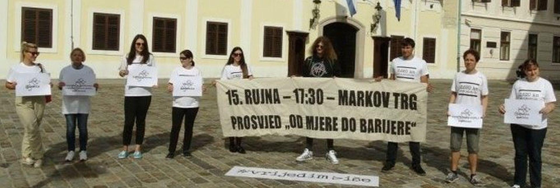 MARKOV TRG Prosvjed za vraćanje dostojanstva i perspektive mladima