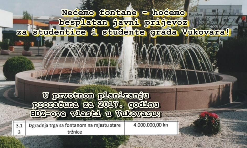 Vukovar studentima ukinuo subvencioniranje prijevoza