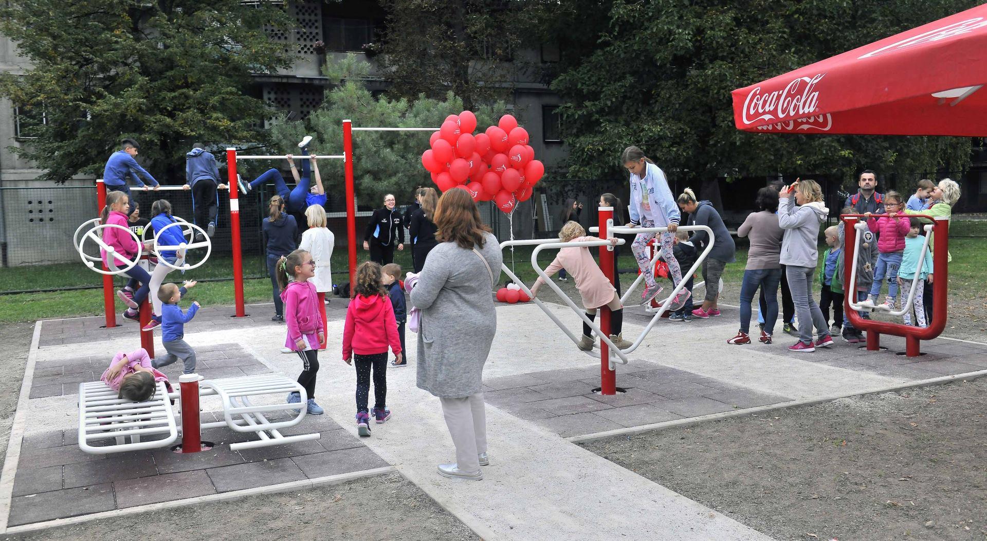 POKRET ZA RADOST Coca-Cola otvorila novo vježbalište na otvorenome u Gradu Zagrebu