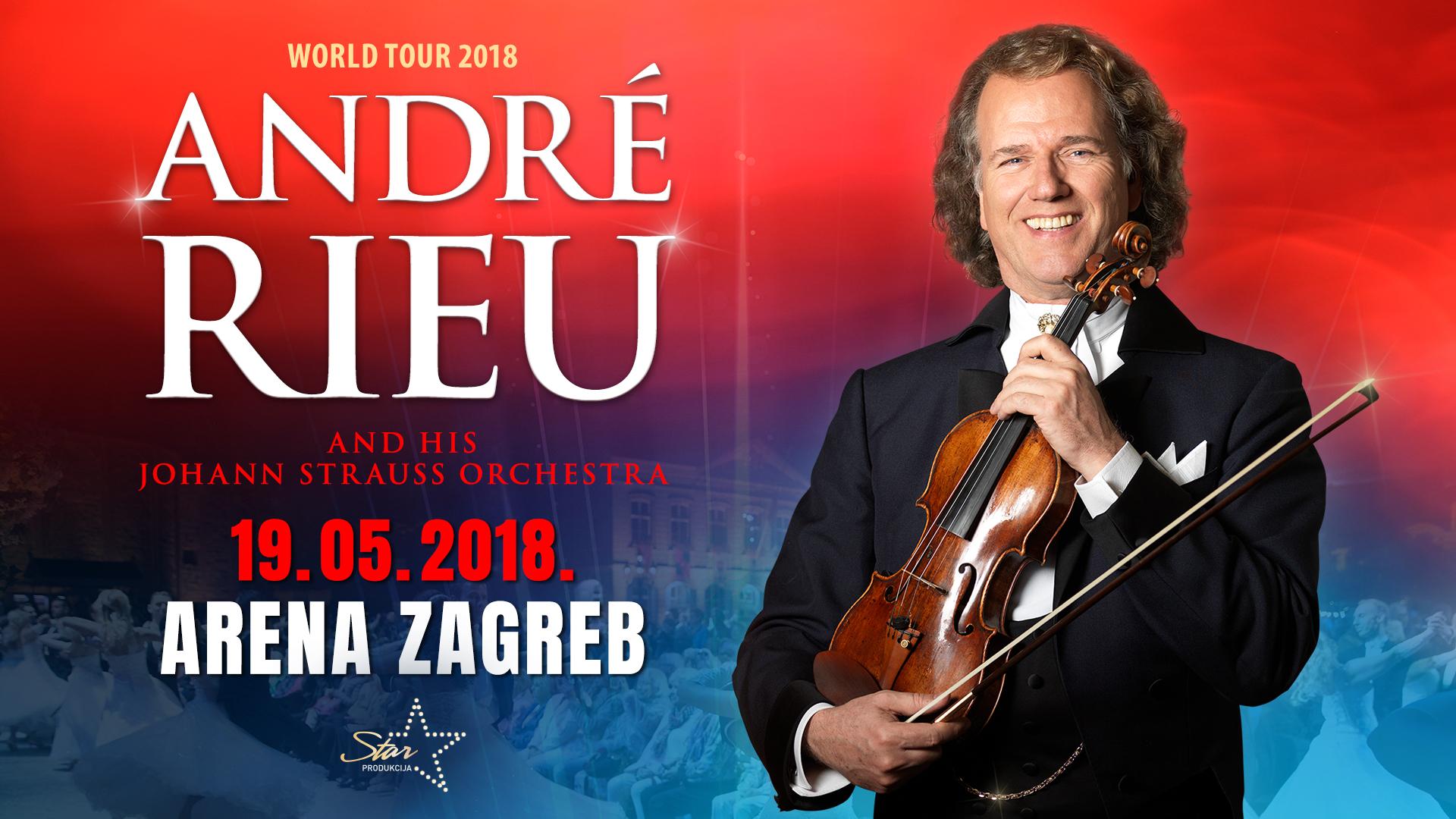 André Rieu i Johann Strauss Orchestra ponovo u zagrebačkoj Areni