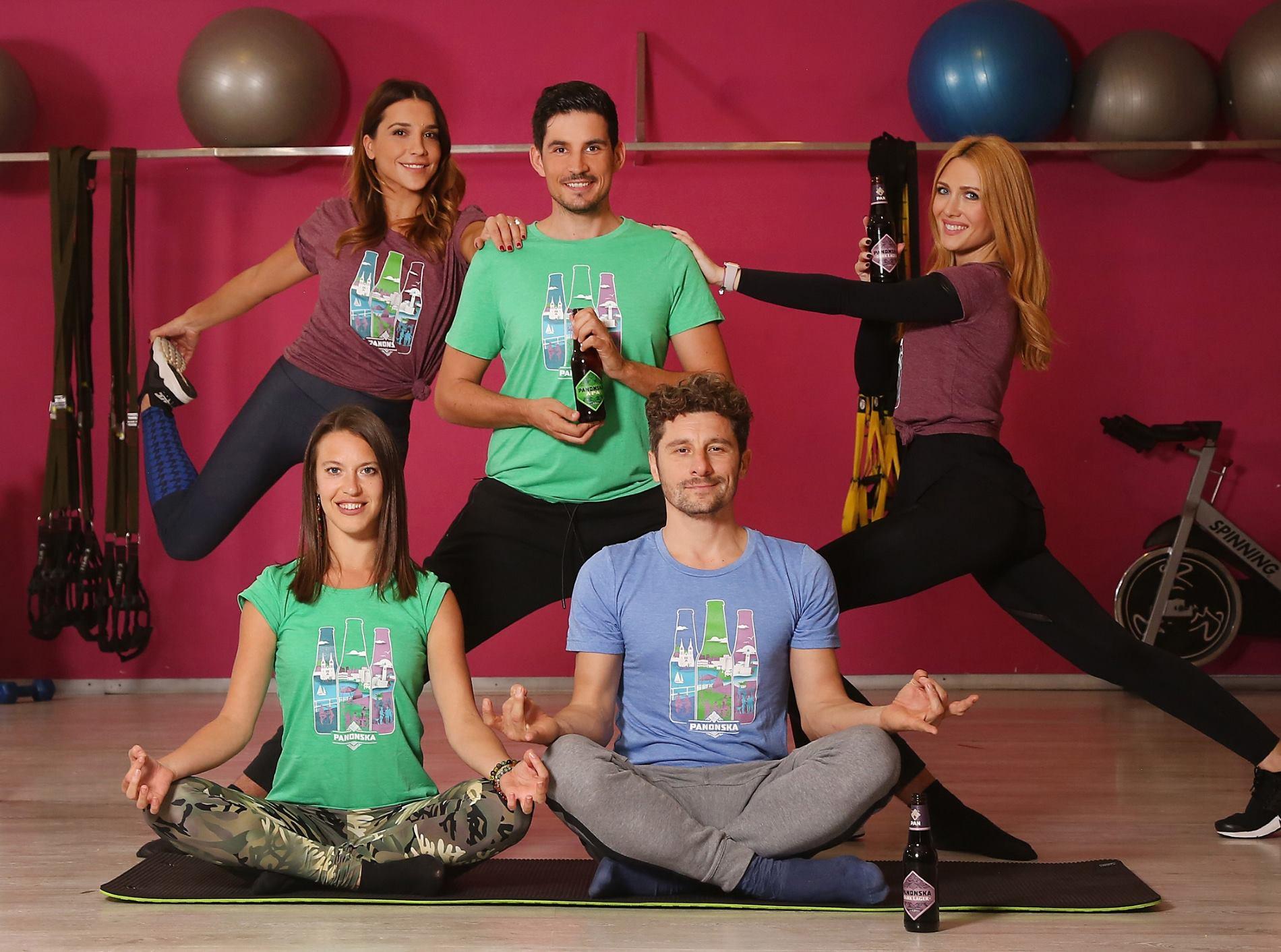 FOTO: Beer yoga uz novu liniju specijalnog piva Panonska