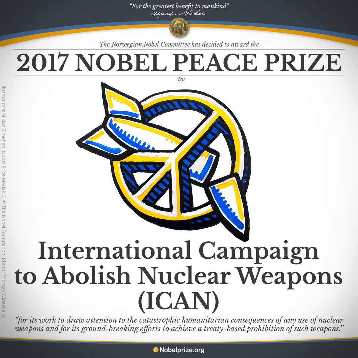 Dodijeljena Nobelova nagrada za mir