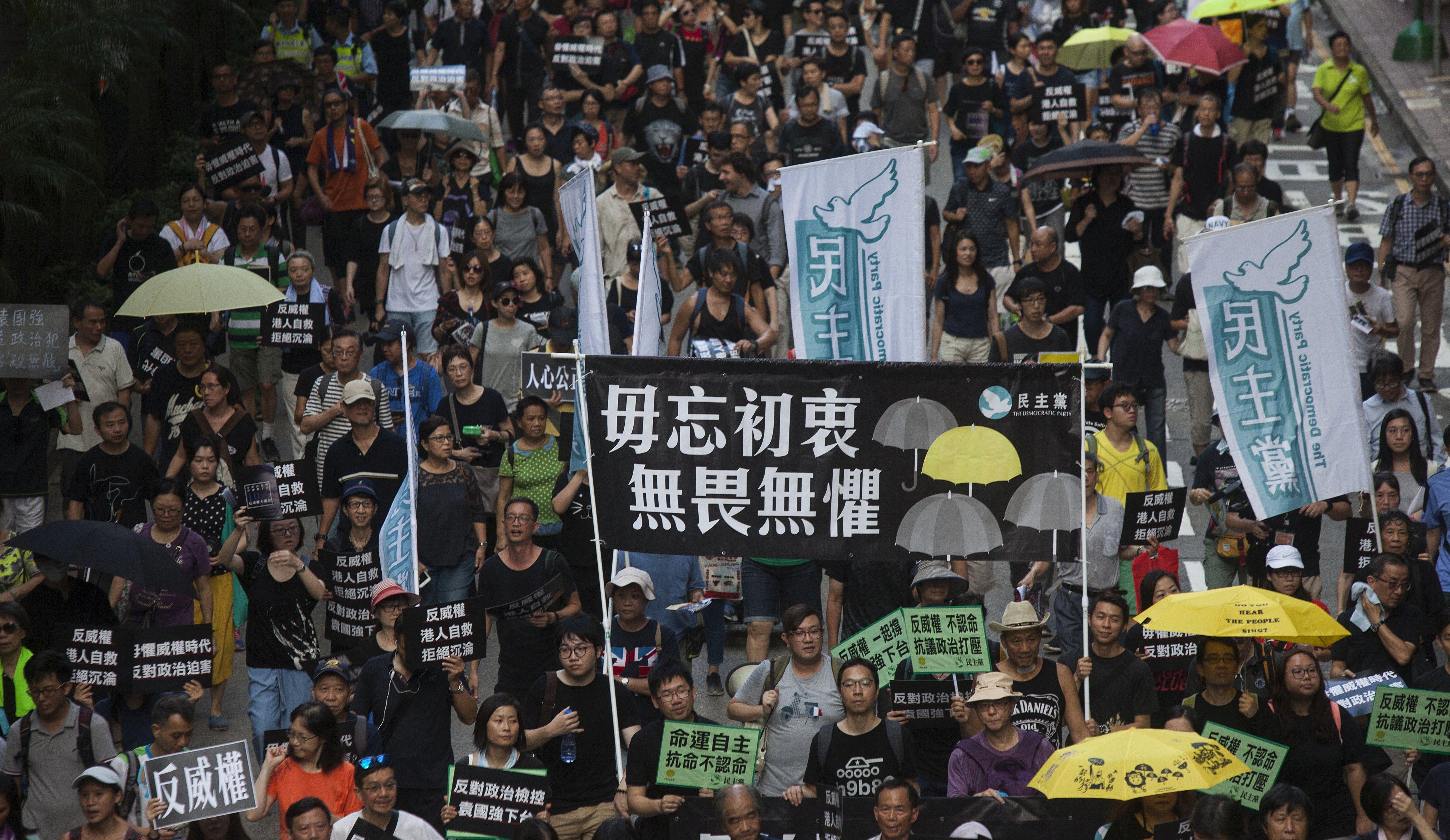 Deseci tisuća ljudi prosvjedovali za vladavinu prava u Hong Kongu protiv Kine