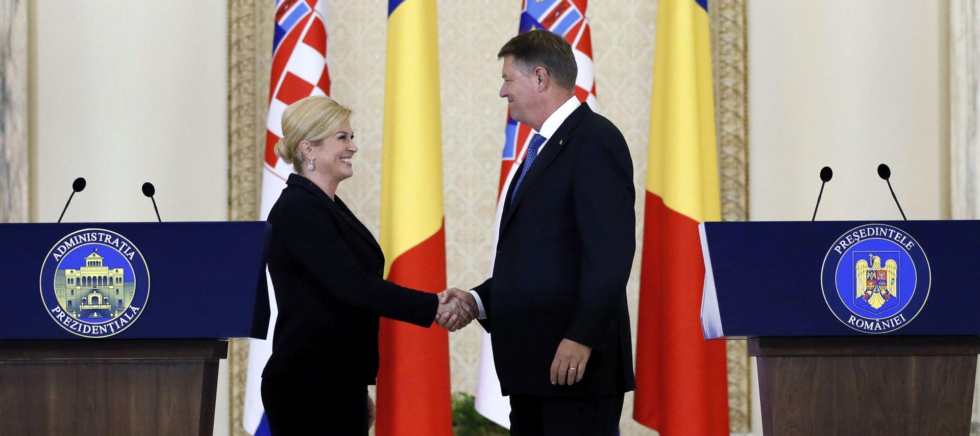 Grabar-Kitarović i Iohannis: 'Veliki potencijal gospodarske suradnje nedovoljno iskorišten'