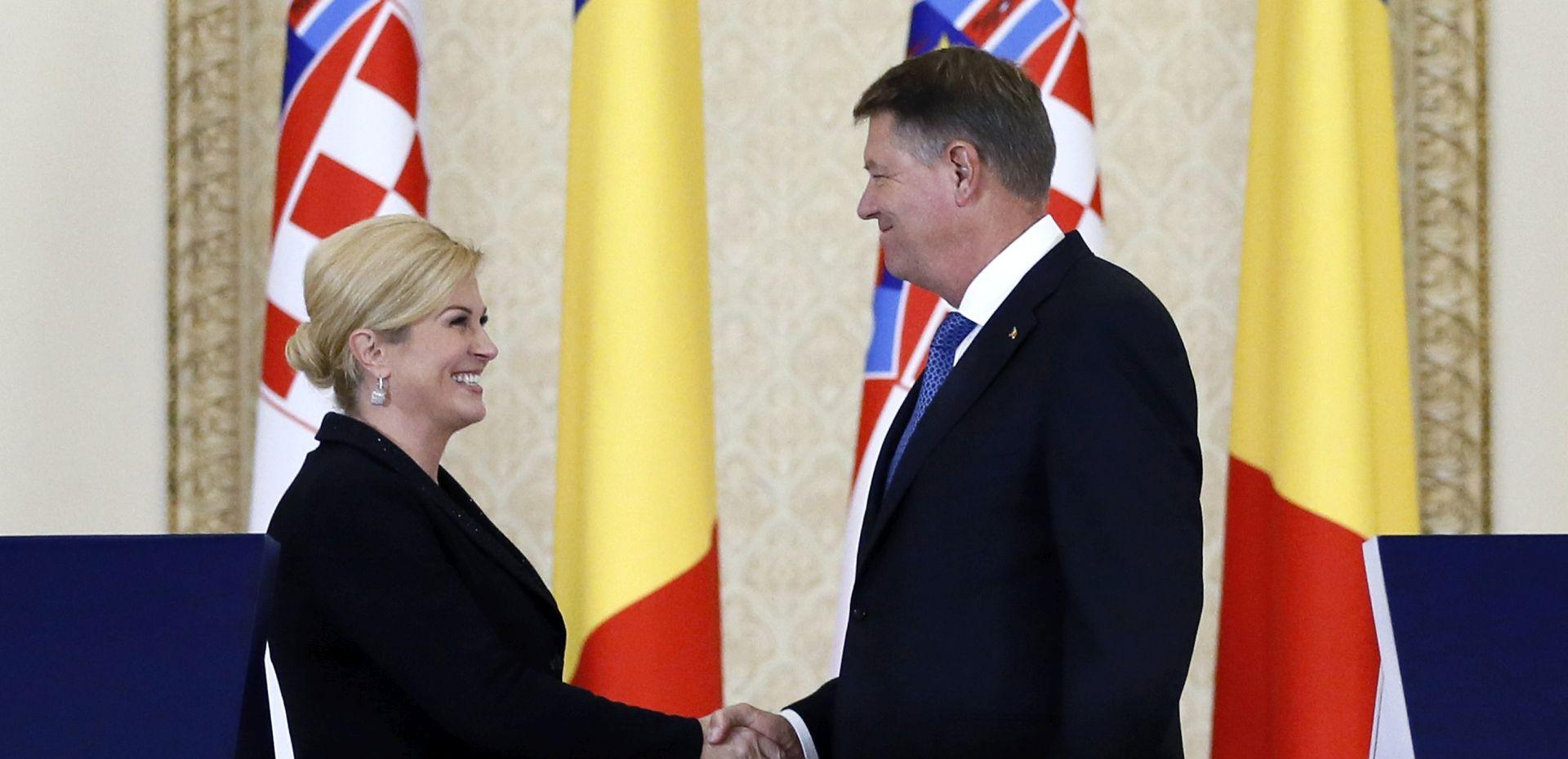 Hrvatska predsjednica Grabar-Kitarović i rumunjski predsjednik Iohannis protiv Europe više brzina