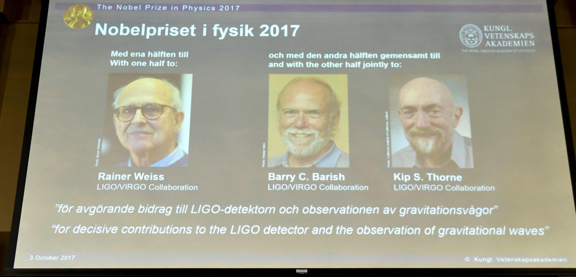 OTKRIĆE KOJE JE UZDRMALO SVIJET Nobel za fiziku trojici Amerikanaca za gravitacijske valove