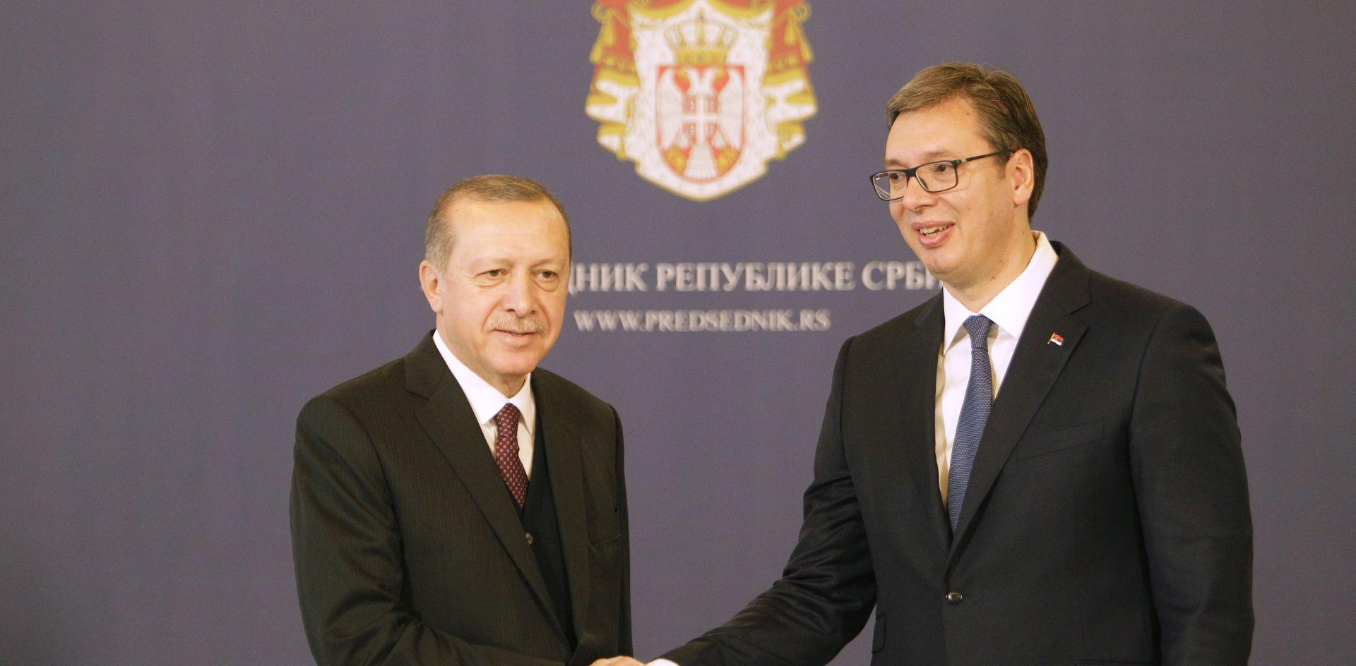 Erdogan poručio da želi Srbiju kao prijatelja i zemlju napretka, jedinstva i sloge