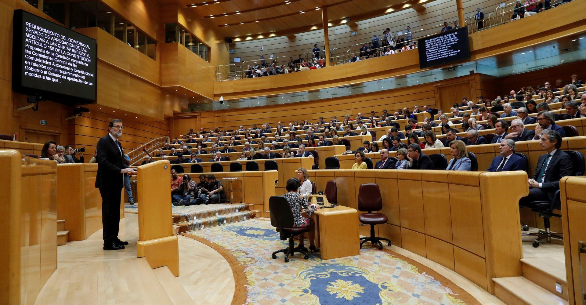 NASTAVAK SJEDNICE Španjolski parlament odlučuje o ukidanju autonomije Katalonije