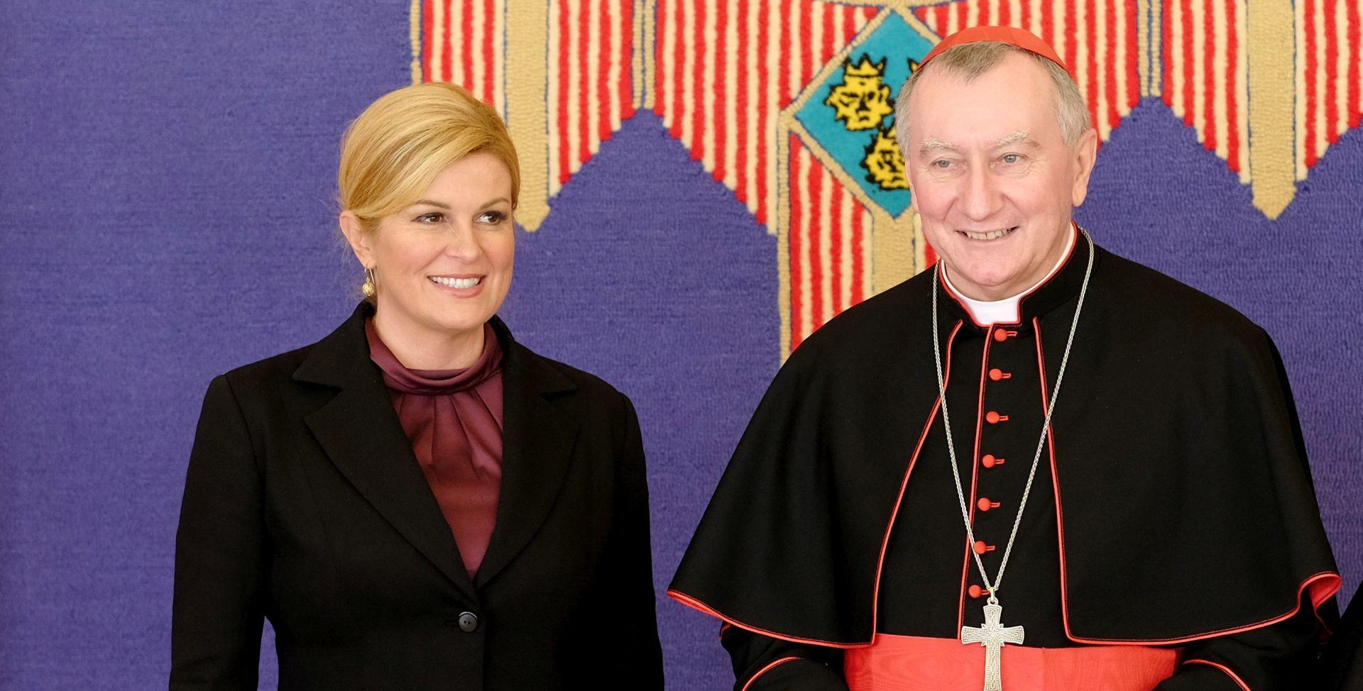 Predsjednica Grabar-Kitarović primila vatikanskog državnog tajnika