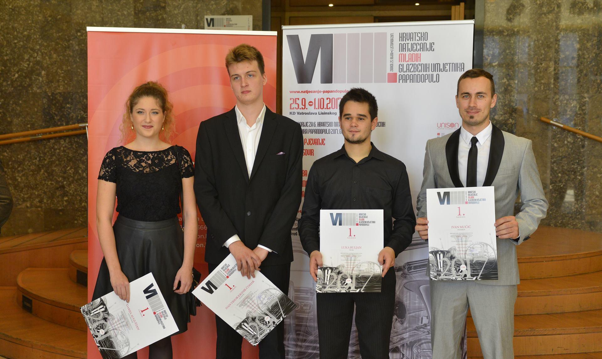 KD LISINSKI Obilježen Međunarodni dan glazbe i proglašeni najbolji mladi glazbenici u Hrvatskoj