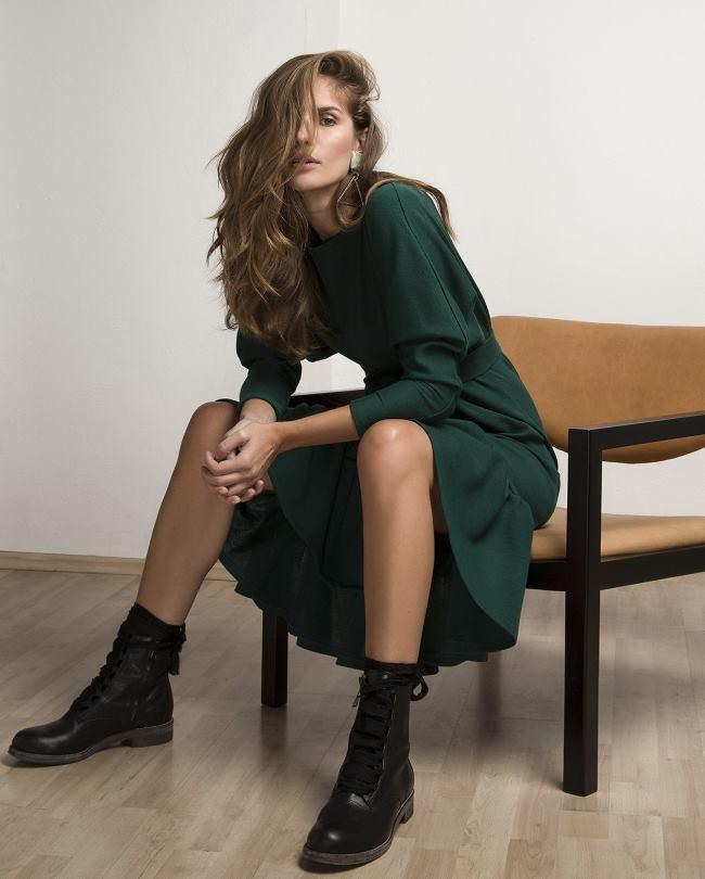Smaragdno zelena LuLu Couture kreacija