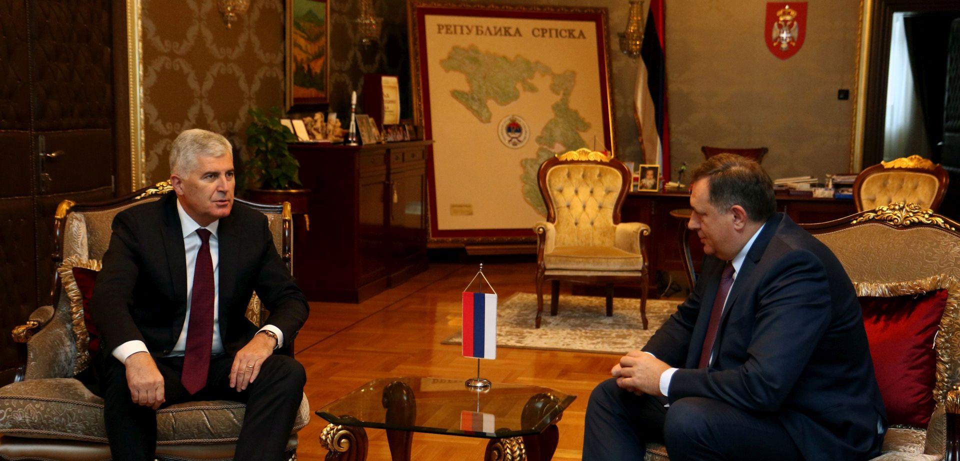 Čović i Dodik kritizirali sastanak Izetbegovića s Vučićem i Erdoganom