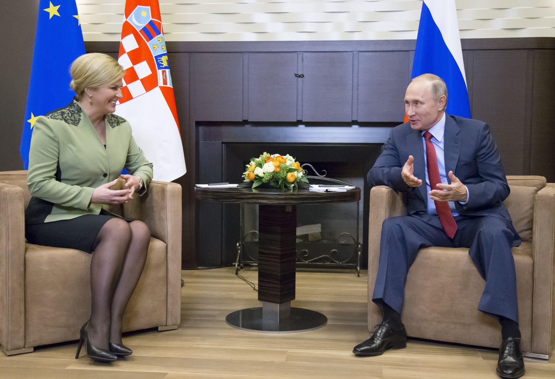 RUSKI MEDIJI O SASTANKU U SOČIJU 'S Putinom i Grabar-Kitarović o Agrokoru su razgovarali i Cvitan i direktor Sberbanka'