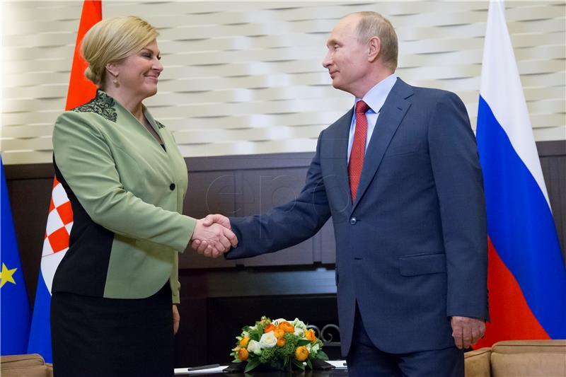 Predsjednica pozvala Putina u Hrvatsku