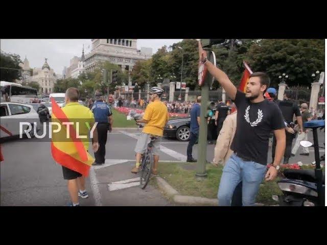 VIDEO: Protivnici katalonske neovisnosti podizali ruku u nacistički pozdrav i pjevali himnu notornog fašističkog režima