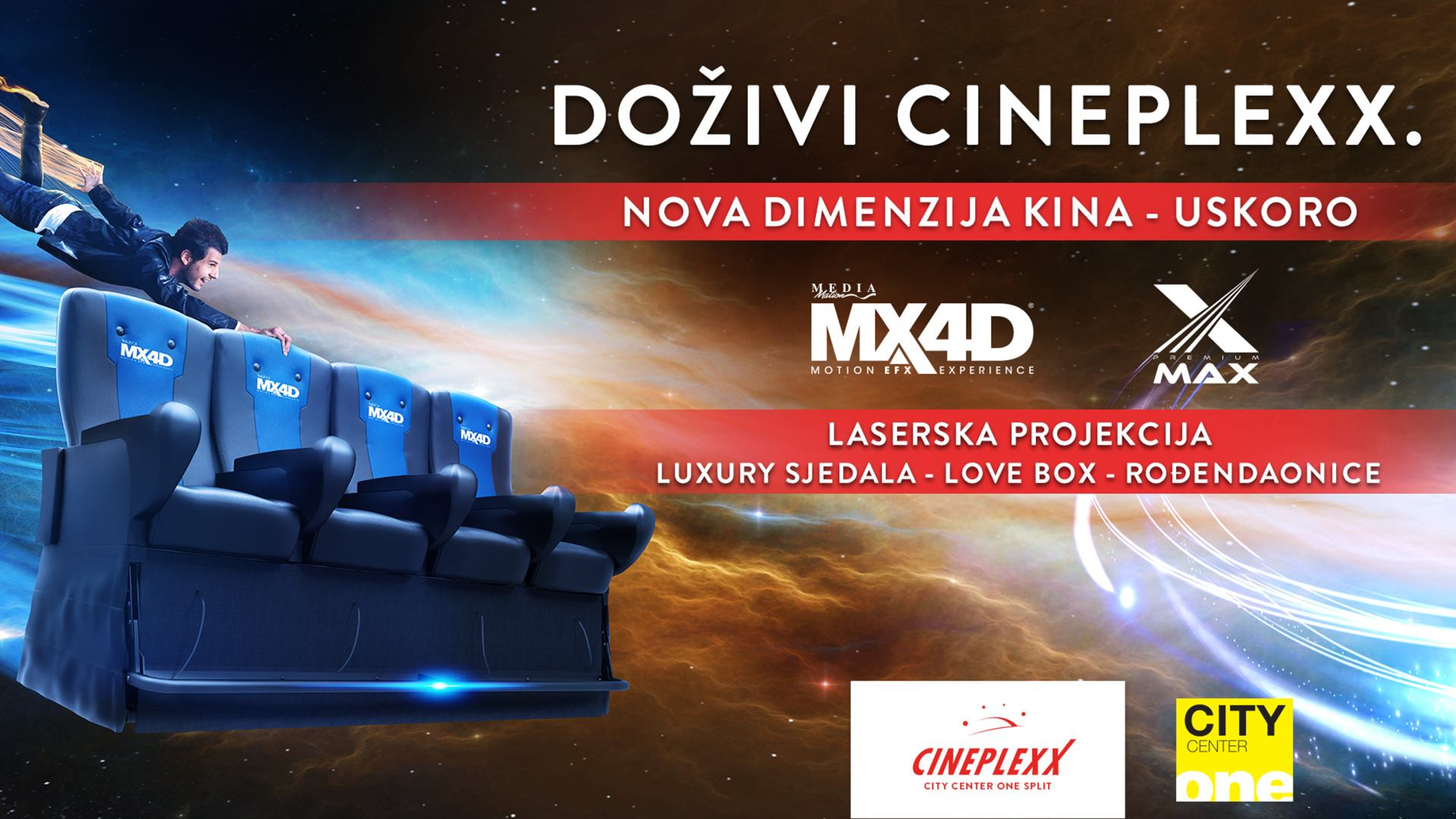 FOTO: VIDEO: Cineplexx kino u City Centeru one Split uskoro otvara MX4D dvoranu