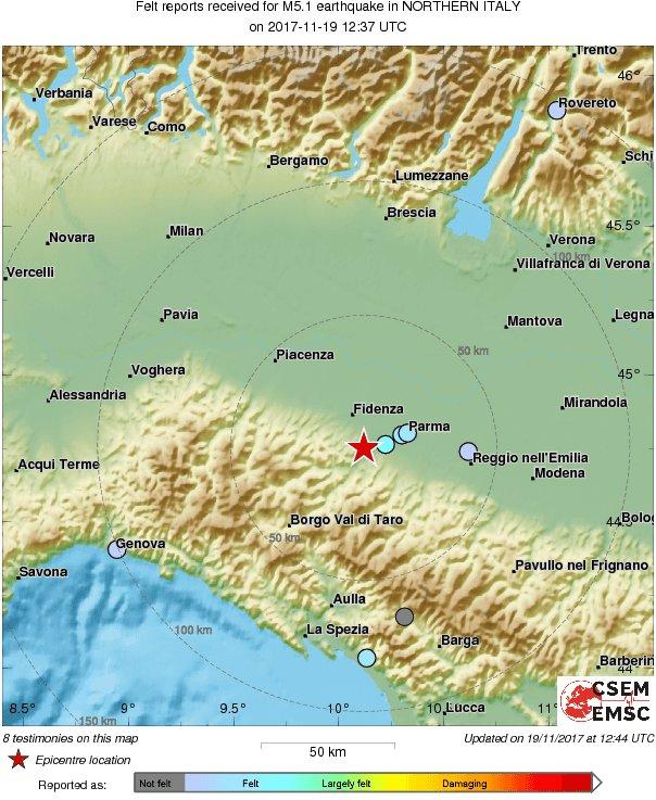 Potres jačine 4.7 po Richteru pogodio sjever Italije