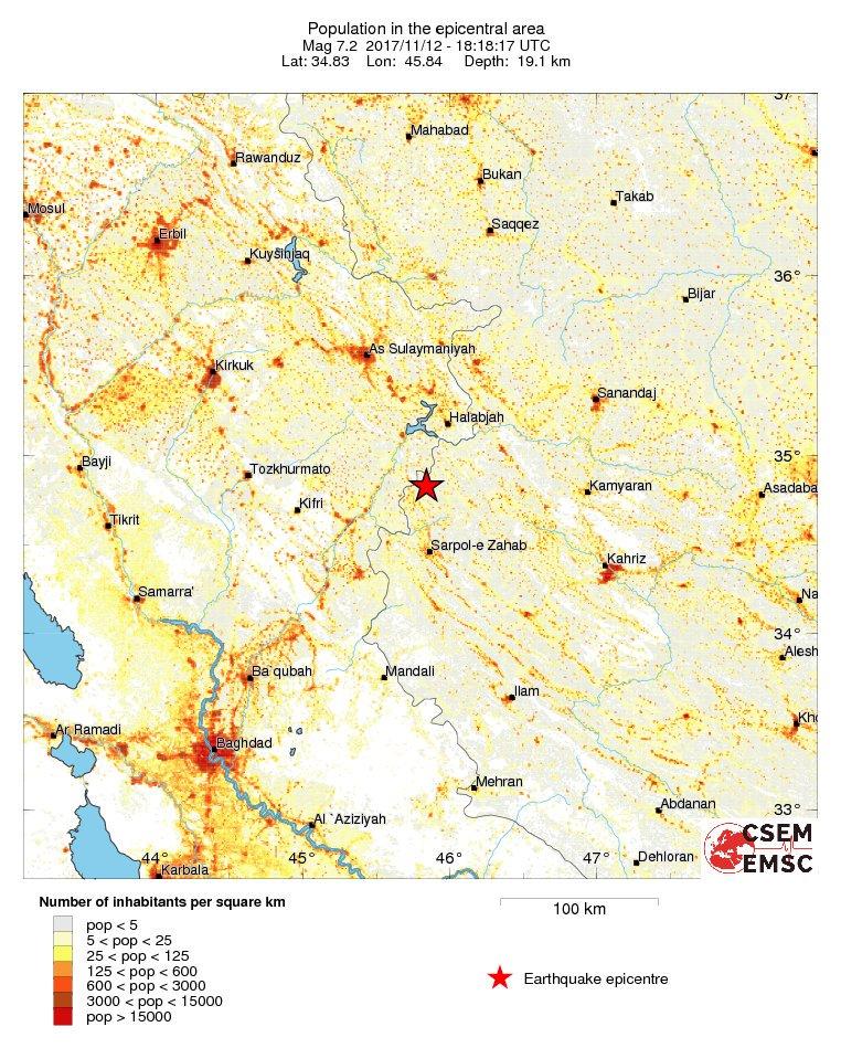 Potres magnitude 7.2 po Richteru pogodio Irak