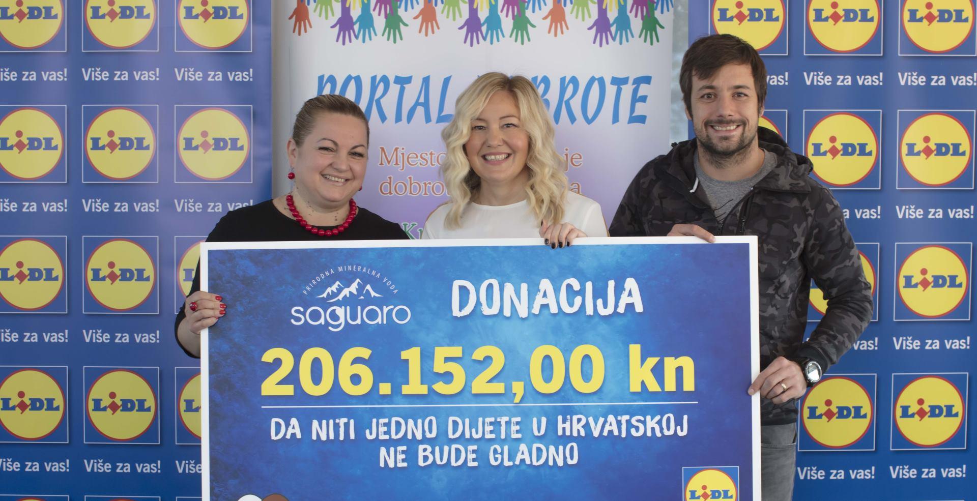 Lidlova akcija prikupila više od 200 tisuća kuna za projekt Portala Dobrote