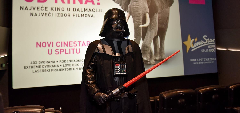 FOTO: Darth Vader prvi posjetio najveće dalmatinsko kino CineStar Split 4DX™