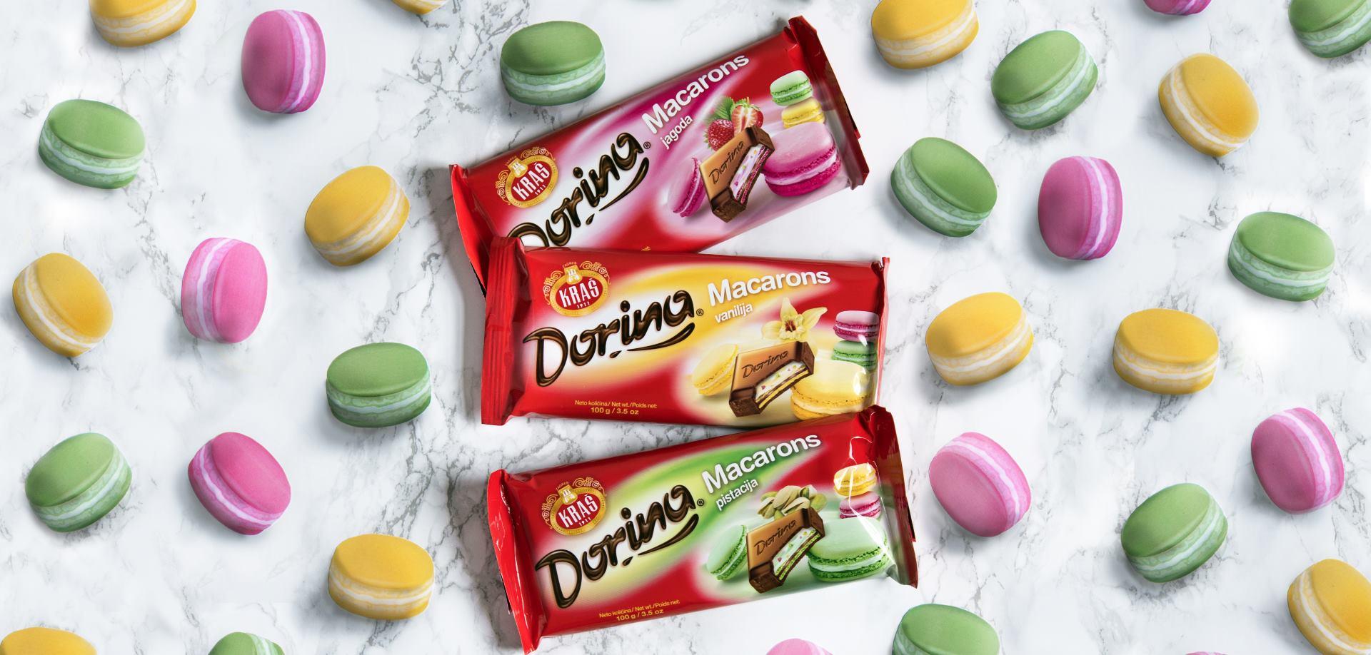 DORINA MACARONS Jedinstvena francuska delicija u omiljenoj Kraševoj čokoladi