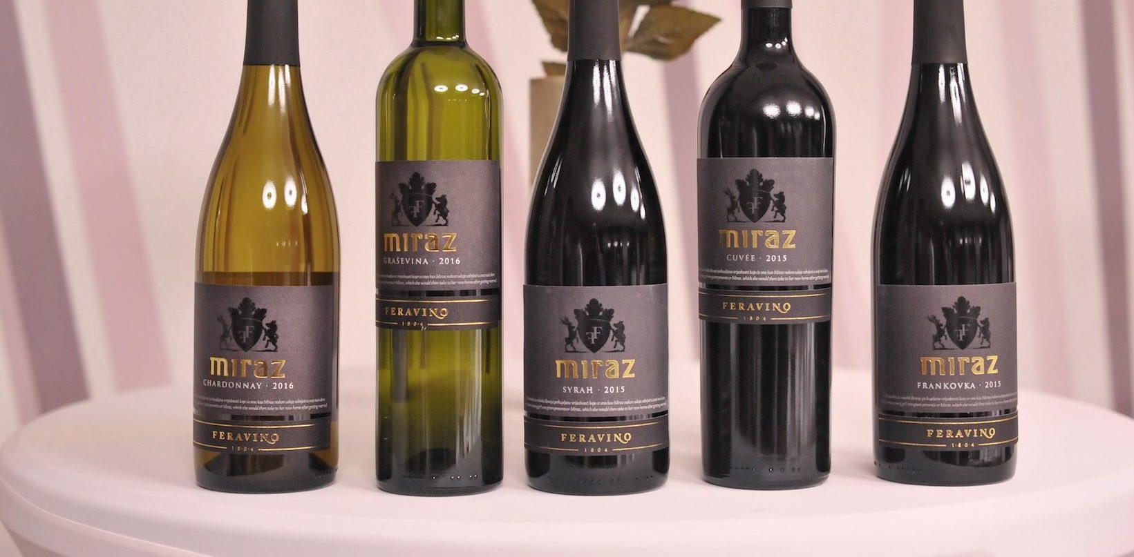 FOTO: Feravino predstavilo novu etiketu i vina iz premium linije Miraz