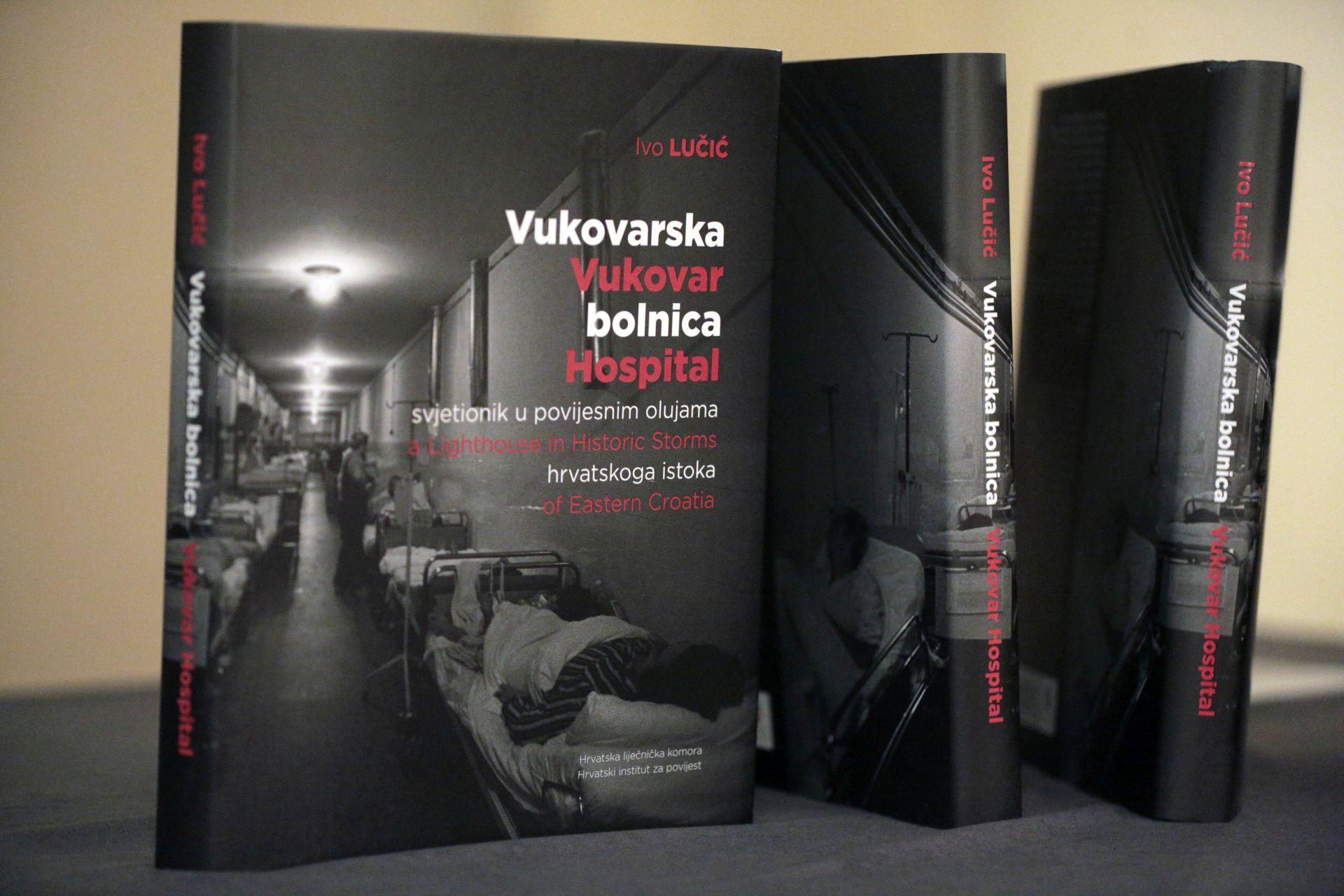 """Predstavljena knjiga """"Vukovarska bolnica svjetionik u povijesnim olujama hrvatskog istoka"""""""