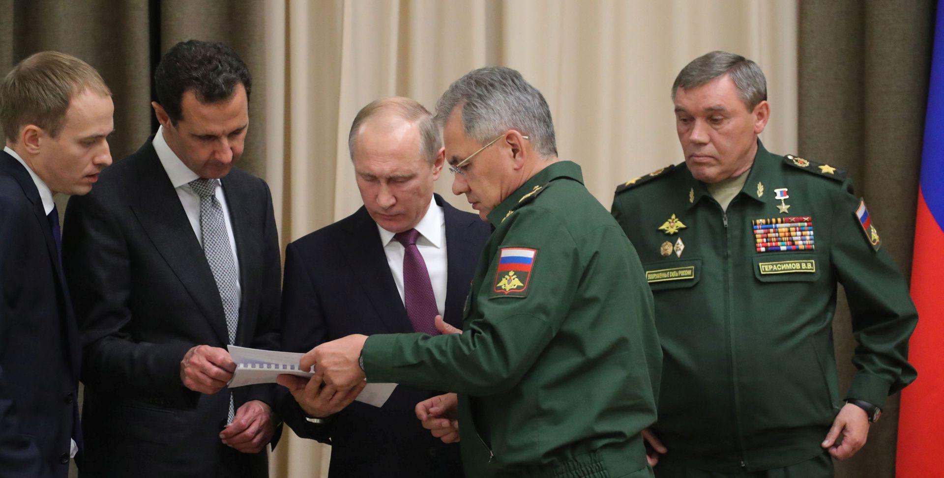 Putin razgovarao s Asadom u Sočiju, u utorak će nazvati Trumpa