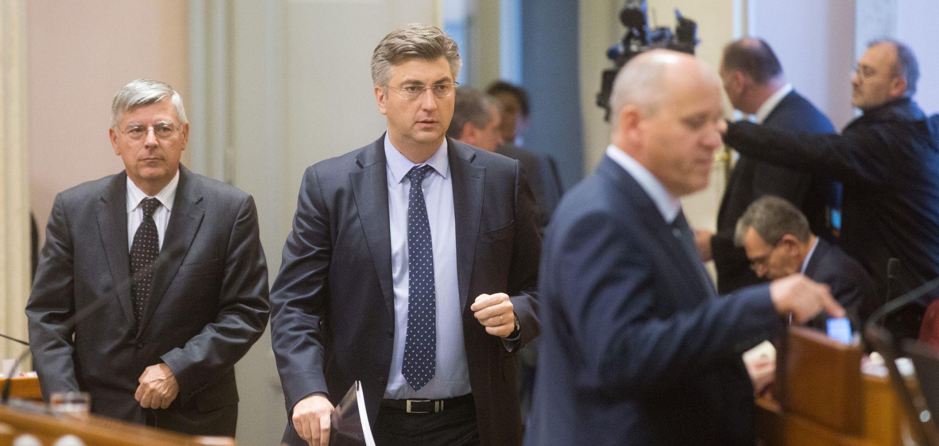 Plenković Bernardića nazvao 'šefom takozvane oporbe'